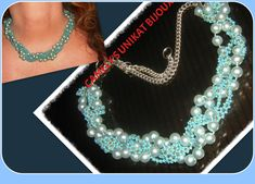 Pearl Necklaces – Angelic BLUE PEARLS NECKLACE – a unique product by CamelysUnikatBijoux on DaWanda