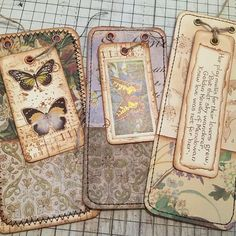 Type journaling on tag Journal Paper, Journal Cards, Junk Journal, Art Journals, Vintage Journals, Card Tags, Gift Tags, Vintage Paper Crafts, Handmade Tags