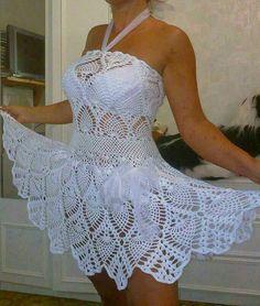 Knit white dress