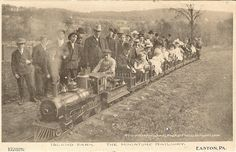 Postcard, Miniature Train, Easton, PA 1907  forgottenfacesandlongagoplaces.blogspot.com