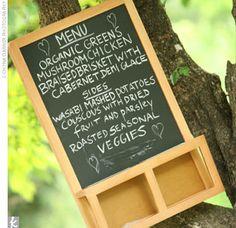 Ikea chalkboard for menu