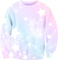Pastel Ombre Star Relaxed Sweatshirt