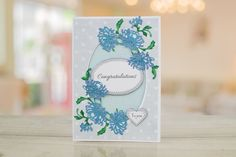 Ornamental Vintage Lace by Tattered Lace    For more information visit:  www.tatterelace.co.uk Tattered Lace Cards, Die Cut Cards, Vintage Lace, Congratulations, Ornaments, Embellishments, Ornament