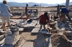 Kouroi of Despotikon island #paros #aks #archeology #kouroi #excavations