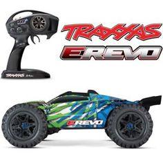 Details About New Traxxas E Revo 2 0 Vxl Brushless Rtr Rc 4wd Monster Truck Green W Tsm Traxxas Monster Trucks E Revo