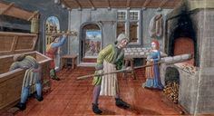 A baker at work, from a 15th century Franciscain Missel
