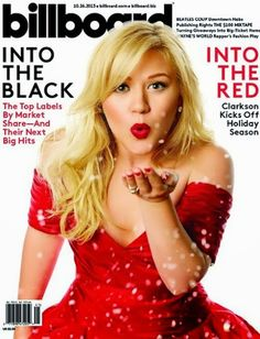 Kelly Clarkson X Billboard Magazine Interview Kelly Clarkson, Lauren Alaina, Billboard Magazine, Wayne's World, Christmas Albums, Red Christmas, Christmas Music, Just Jared, Music Charts