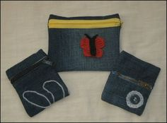 Herminia Regolf: Monederos de tela vaquera