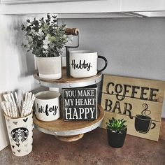 How to Setup a 3-tier Coffee Bar, Plus Free Printables! | Coffee Bar Modern Kitchen Coffee Station Ideas Html on kitchen cabinets, kitchen buffet ideas, martha stewart kitchen ideas, kitchen fridge ideas, kitchen library ideas, coffee bar ideas, great kitchen ideas, coffee themed kitchen ideas, kitchen couch ideas, coffee house kitchen design ideas, kitchen coffee center ideas, kitchen bathroom ideas, coffee break set up ideas, kitchen baking station, kitchen bookshelf ideas, kitchen beverage station, kitchen designs country living, country living 500 kitchen ideas, kitchen decor coffee house, kitchen wine station,