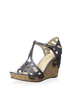 Adrienne Vittadini Women's Cherris Sandal (Blue Haven)