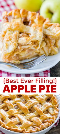 Apple Pie recipe for an easy and simple homemade apple pie never struggle again with VIDEO tips and recipe tutorial Classic Apple Pie Recipe with an irresistible homemad. Classic Apple Pie Recipe, Apple Pie Recipe Easy, Homemade Apple Pie Filling, Best Apple Pie, Easy Pie Recipes, Apple Pie Recipes, Dessert Recipes, Apple Pie Recipe With Canned Filling, Best Apples For Pie