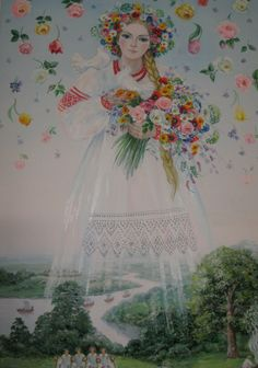 Лада. Slavic godess of spring and new life, her come revitalises frozen soil and brings back its fertility