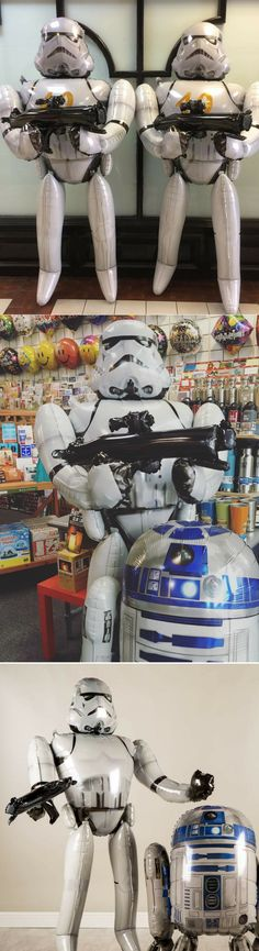 Stormtrooper Airwalker Balloon - Star Wars Gift #starwars #gifts #balloons