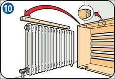Ted's Woodworking Plans - Comment fabriquer un cache radiateur ? - Get A Lifetime Of Project Ideas & Inspiration! Step By Step Woodworking Plans Woodworking Projects Diy, Woodworking Wood, Woodworking Forum, Woodworking Supplies, Diy Radiator Cover, Radiator Ideas, Home Radiators, Wie Macht Man, Diy Furniture Plans