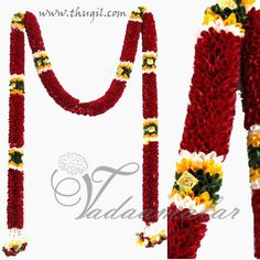 Long maroon mala synthetic flower designs for home madap decorations  http://www.thugil.com/artificialgarland-002.html