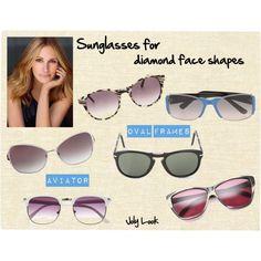 diamond face sun glasses - Google Search