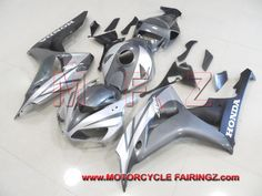 2006 2007 HONDA CBR1000RR Fairing Body Kit 2006-2007 Grey Silver And Matt Black FFKHD020