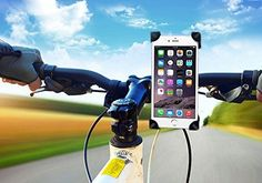 Bike Mount SQdeal Bicycle Motorcycle Handlebar Bar Phone Holder Cradle for iPhone 6s/6/6 Plus/5/5S/5C/4/4S4G/3G Sartphone