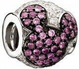 Chamilia Disney Jeweled Pink Mickey Bead - $135.00