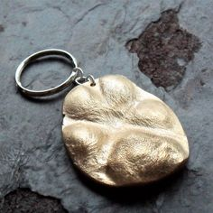 Small Dog Paw Print Keychain in Bronze by janewearjewelry on Etsy, $115.00    Father's day!!