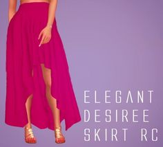 Simsworkshop: Sympxls Elegant Desiree Skirt • Sims 4 Downloads