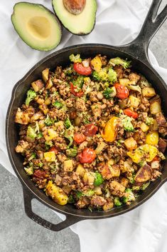 Savory Tempeh Breakfast Hash // I am all about savory morning meals full of protein and veggies that could easily pass as lunch or dinner. This savory tempeh breakfast hash checks all the boxes. vegan, vegetarian