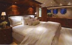 72' Motor Yacht Master Stateroom Designed by Stacey Swecker...