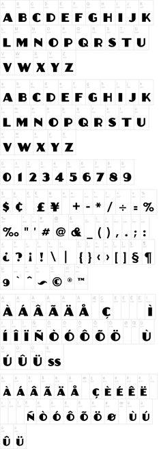 Anchor Jack Font | dafont.com Thick font for stenciling