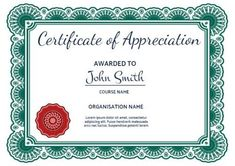 Sample Of Certificates Of Appreciation Lovely 100 Certificate Appreciation Templates to Choose From Make Your Own Certificate, Birth Certificate Template, Printable Certificates, Award Certificates, Certificate Design, Words Of Appreciation, Certificate Of Appreciation, Excel Budget Template, Event Template