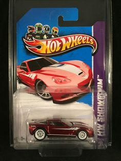 2013 Hot Wheels SUPER Treasure Hunt 09 CORVETTE ZR1 Red Chevy With Protecto  #HotWheels #Corvette #SuperTreasureHunt