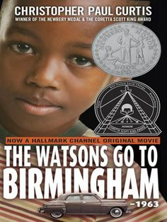 A wonderful middle-grade novel narrated by Kenny, 9, about his middle-class black family, the Weird Watsons of Flint, Michigan. When Kenny's 13-year-old brother, Byron, gets to be too much trouble, they head South to Birmingham to visit Grandma, the one person who can shape him up. And they happen to be in Birmingham when Grandma's church is blown up.