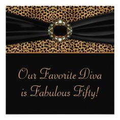 Cool birthday dinner invitation wording ideas free printable leopard diva womans 50th birthday party invitation filmwisefo