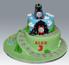 Tomas The Train Cake by Gellyscakes, via Flickr