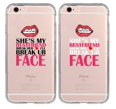 Couple Case,BFF Best Friends Every Blonde Needs a Brunette Break Her Heart I'll Break Your Face Cute Sister Cousins Funny Matching Thing Cases for Girls Teens Kids for iPhone 7 Plus/iPhone 8 Plus Bff Iphone Cases, Bff Cases, Funny Phone Cases, Couples Phone Cases, Phone Covers, Iphone 7 Plus, Iphone 6, Best Friend Cases, Friends Phone Case