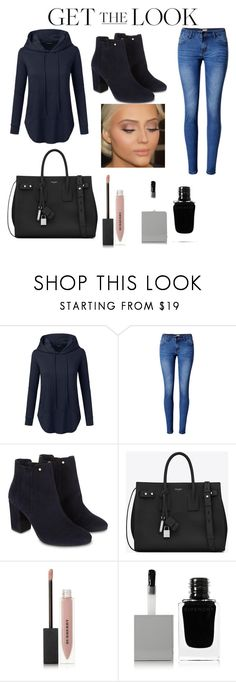 """""""winterbeauty"""" by sharmashalini ❤ liked on Polyvore featuring Doublju, WithChic, Monsoon, Yves Saint Laurent, Burberry and Givenchy"""