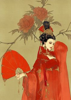 Kai Fine Art is an art website, shows painting and illustration works all over the world. Geisha Kunst, Geisha Art, Anime Kunst, Chinese Painting, Chinese Art, Fantasy Kunst, Fantasy Art, Des Femmes D Gitanes, Art Asiatique