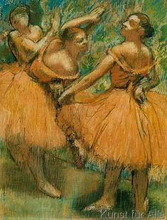 Edgar Degas - Tänzerinnen in Rot