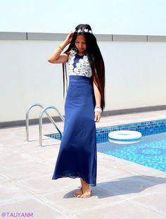 dresslink, fashion blogger, blue dress dubai fashion blogger, #mydubai