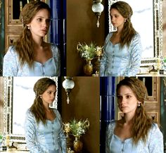 Princess Farya's blue & white dress, 2x05 - Magnificent Wardrobe