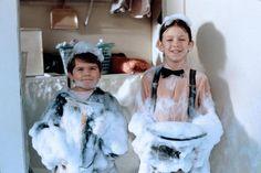Spanky (Travis Tedford) and Alfalfa (Bug Hall) ~ The Little Rascals (1994) ~ Movie Stills