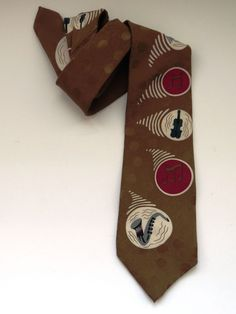 Mens Necktie - Musical Instruments Tie - Music Teacher Band Student Rock Band #Unbranded #NeckTie