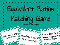 A fun, engaging and rigorous matching game for learning about unit rate and equivalent rates/ratios! Perfectly aligned with the Common Core State Standards for 6th and 7th grade math. Students can play with their peers, justify and critique reasoning, and practice calculating unit rates and identifying equivalent rates all in one!  Includes 32 Rate Cards, Rate Tracker for recording unit rates, Directions, Teacher Tips, AND and Answer Key!