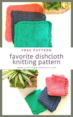 Favorite Dishcloth Knitting Pattern Dishcloth Knitting Patterns, Knit Dishcloth, Free Knitting, Hobbies To Try, Hobbies That Make Money, Diy Crafts And Hobbies, Crafts For Kids, Sugar And Cream Yarn, Blog Love