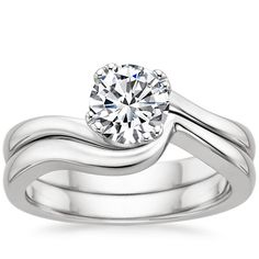 18K White Gold Seacrest Ring from Brilliant Earth. Conflict free a-symmetrical and simple. Love <3