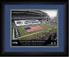 Your Name on a sign in Qwest Field, Your Day at the Stadium.  Great gift for Seahawks Fans. Customize with your name on cards held by the fans and make it Your Day at the stadium.