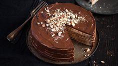 karlovarský oplatkový dort Chocolate Box Cake, Deep Dish, Churros, Cooking Classes, Marshmallows, Panna Cotta, Pudding, Dishes, Fresh