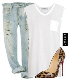 #380 by nineteen92 ❤ liked on Polyvore featuring T By Alexander Wang and Christian Louboutin