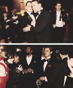 mr. tveit at the academy awards... his undone bow tie...