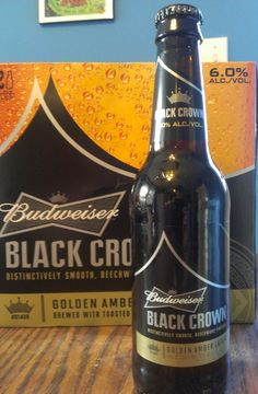 Budweiser Black Crown - Incorporating the proprietary yeast directly descended from the original Budweiser yeast strain used by Adolphus Busch in 1876, Budweiser Black Crown retains the key characteristics of Budweiser with its clean taste and high drinkability. Featuring more body, color and hop character than the flagship lager, it also has a slightly higher alcohol content at 6% ABV. #beerloveslex #budweiser #blackcrown