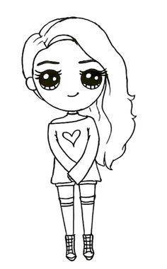 Kawaii Girl Drawings, Bff Drawings, Cute Animal Drawings Kawaii, Girl Drawing Sketches, Cute Easy Drawings, Cute Cartoon Drawings, Cute Girl Drawing, Cartoon Girl Drawing, Disney Drawings